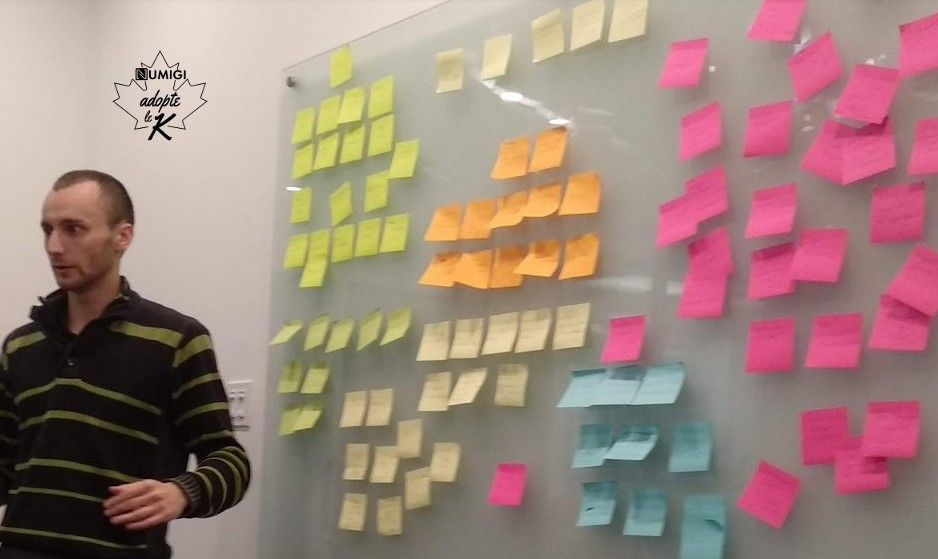 David en plein brainstorming